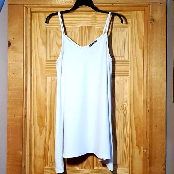 Boohoo white dress, strappy, size 18